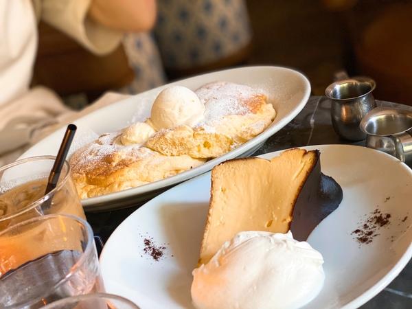 バスクチーズケーキとパンケーキサムネイル